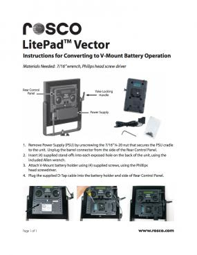 LitePad Vector™ Instructions